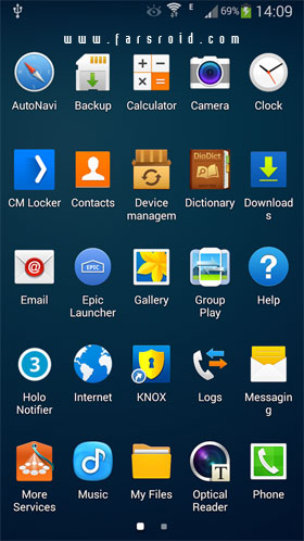 Galaxy Launcher (TouchWiz) Android - اندروید جدید
