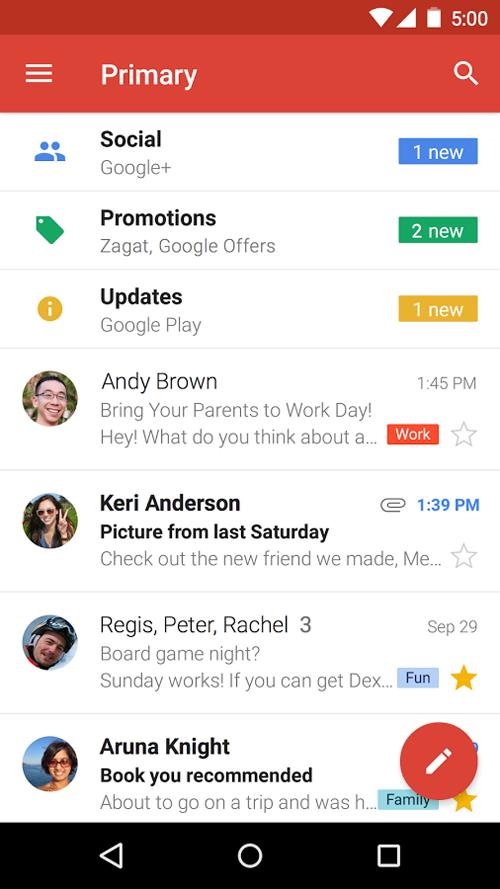 دانلود Google Gmail 2019.03.31.243253844.release - برنامه رسمی جیمیل اندروید + مود