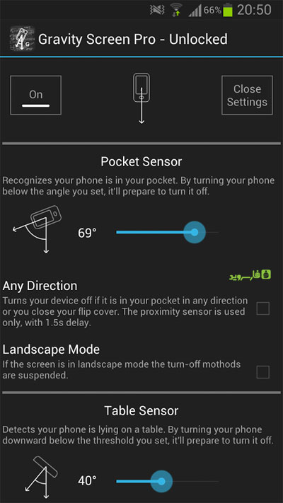 Gravity Screen Pro - On/Off Android Unlocked