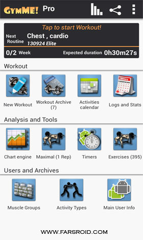 Gymme - Gym Personal Trainer - برنامه جدید اندروید