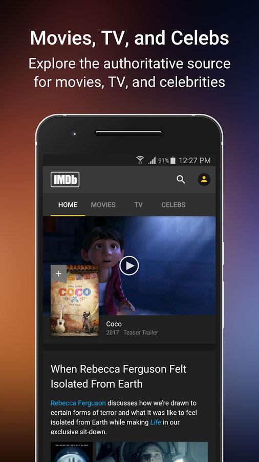 IMDb Movies & TV Android  برنامه اندروید