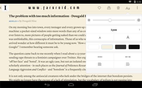 Instapaper Android - برنامه مطالعه آفلاین اندروید