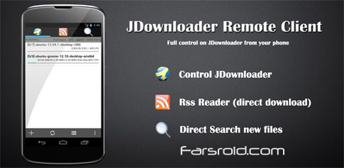 JDownloaderRcPro - Android download management