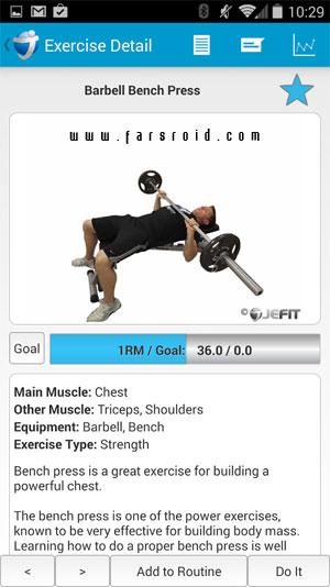 JEFIT Pro - Workout & Fitness Android - برنامه رایگان اندروید