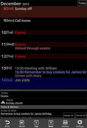 Jorte Calendar & Organizer Android - تقویم اندروید