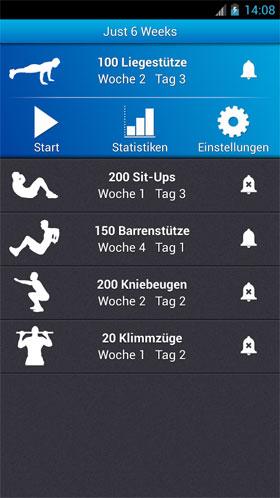 Just 6 Weeks Android - برنامه رایگان اندروید