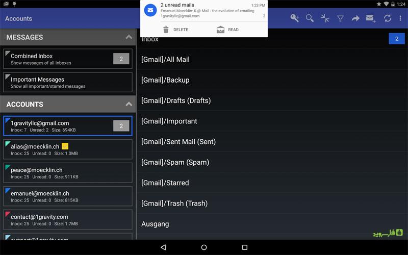 دانلود K-@ Mail Pro – Email App 1.16 – کلاینت مدیریت ایمیل اندروید !