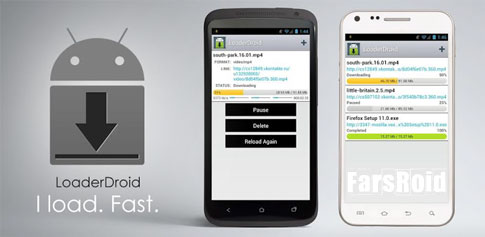 Loader Droid download manager Android