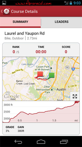 MapMyRide+ GPS Cycling Riding Android - برنامه اندروید