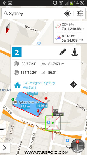 برنامه کاربردی اندروید - Measure Map Android