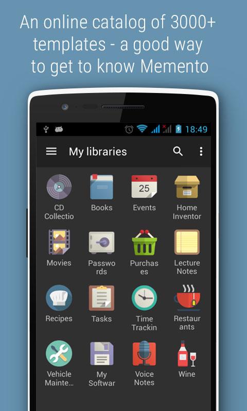Memento Database Android نرم افزار اندروید