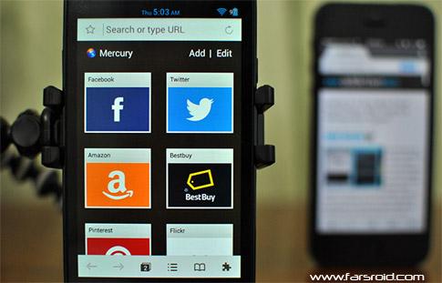 دانلود Mercury Browser - مرورگر اینترنت قدرتمند و رایگان اندروید