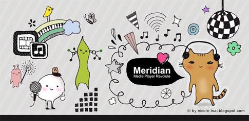 Meridian Media Player Revolute - پلیر زیبای اندروید