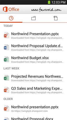 Microsoft Office Mobile - نرم افزار اندروید