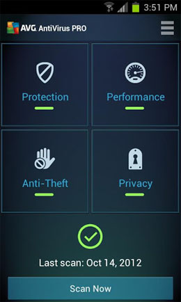 Mobile AntiVirus Security PRO Android
