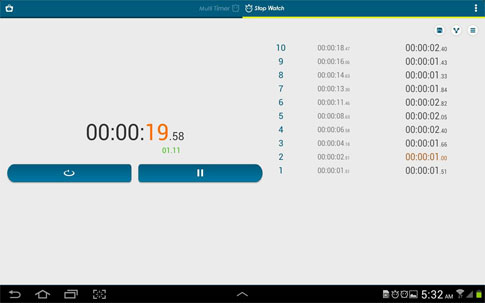 Multi Timer StopWatch Android