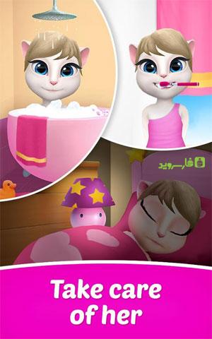 My Talking Angela 7 دانلود My Talking Angela 3.5.0.21 – برنامه جذاب و جالب و خوب جذاب و جالب صحبت با آنجلا آندروید + مود + مگامود