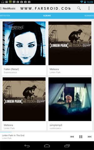 NexMusic + Android - موزیک پلیر آندروید - جدید