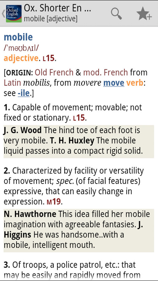 Oxford Shorter English Dict Android اندروید