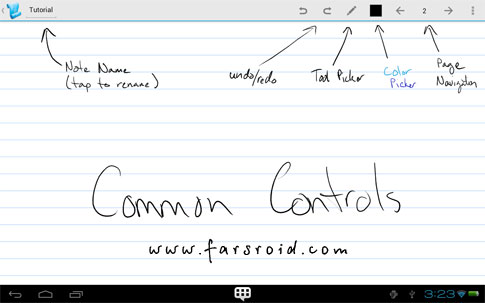 Papyrus - Natural Note Taking Android - اندروید جدید