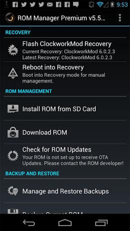 دانلود ROM Manager Premium 5.5.3.7 – اپلیکیشن مدیریت رام اندروید