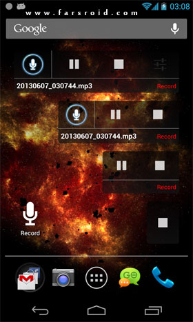 RecForge II – Audio Recorder Android - برنامه اندروید
