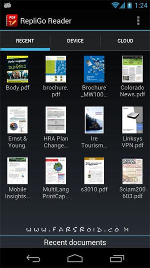 RepliGo PDF Reader Android - برنامه خواندن اسناد پی دی اف اندروید