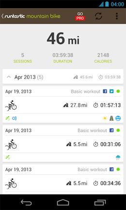 Runtastic Mountain Bike Android