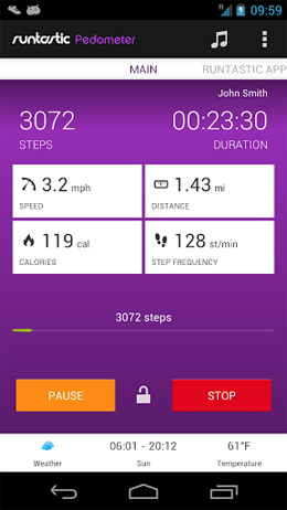 Runtastic Pedometer PRO Android