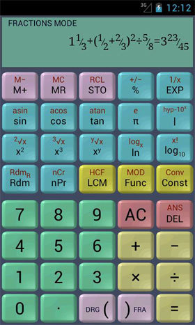 Scientific Calculator (adfree) Android ماشین حساب اندروید