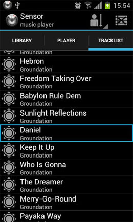 Sensor music player Android