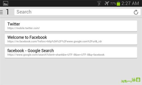 """دانلود Shark Browser - مرورگر ساده """"کوسه"""" اندروید!"""