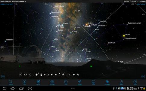 دانلود SkySafari 4 Pro - اپلیکیشن نجوم اسکای سافاری 4 اندروید + دیتابیس