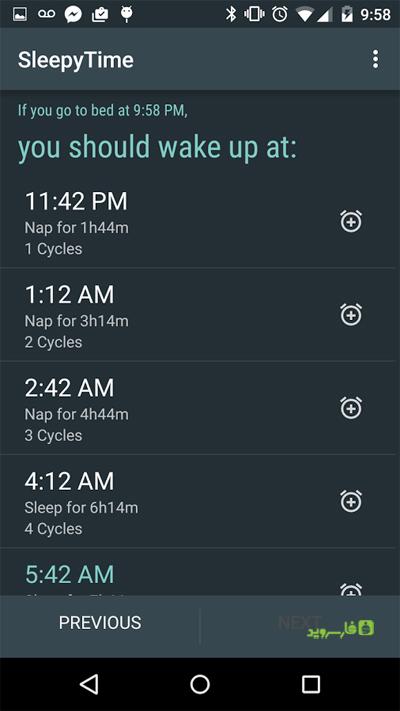 دانلود SleepyTime Bedtime Calculator - برنامه محاسبه ساعت خواب اندروید