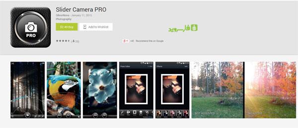 دانلود Slider Camera PRO - برنامه عکاسی اندروید !