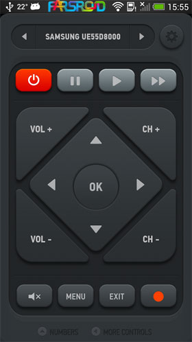 Smart IR Remote - Samsung/HTC Android اندروید