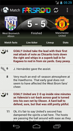 کانال تلگرام نتایج زنده فوتبال