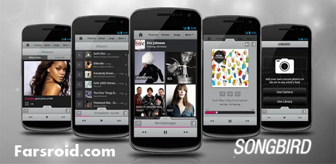 Songbird Android Music Player - موزیک پلیر رایگان اندروید