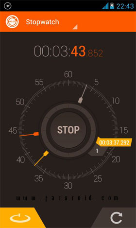 Stopwatch Timer Android - برنامه اندروید - جدید