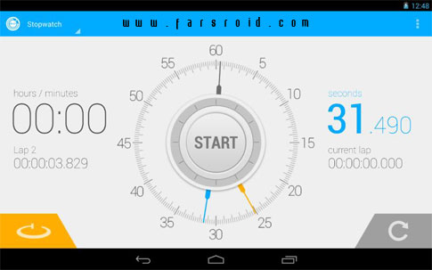 Download Stopwatch Timer Android App - NEW FREE