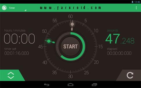 دانلود Stopwatch Timer - برنامه کرنومتر و تایمر حرفه ای اندروید