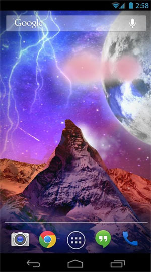Storm Mountain 3D Wallpaper Android