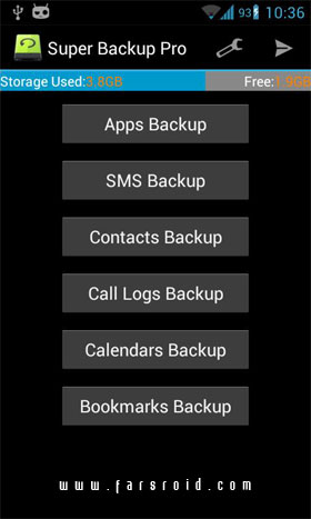 Super Backup Pro: SMS&Contacts - برنامه اندروید
