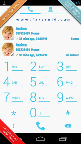 Swipe Dialer Pro Android - برنامه اندروید