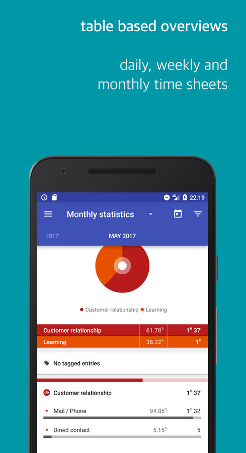 Swipetimes Time Tracker Pro Android - اندروید