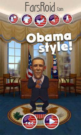 دانلود Talking Obama 2 – اپلیکیشن جالب اوباما اندروید