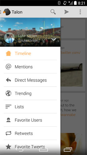 Talon for Twitter Android - برنامه اندروید - جدیدترین ها