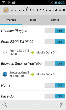 Tasker Android - برنامه اندروید