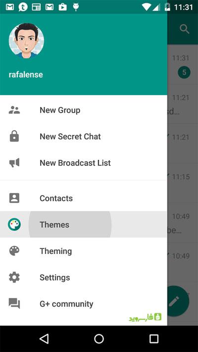 Telegram Plus Messenger 5 دانلود Telegram Plus Messenger 3.6.1.0 – تلگرام پلاس آندروید + Themes