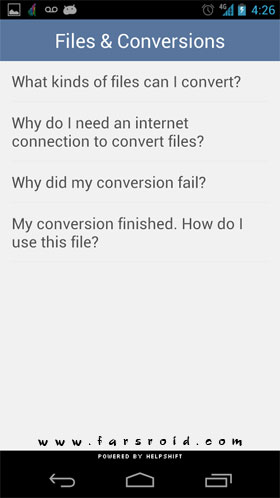 The File Converter Android - برنامه جدید اندروید